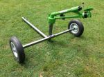 Cost effective turbine drive agricultural sprinkler cart
