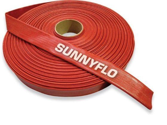 Crusader Sunnyflo Red medium pressure layflat hose