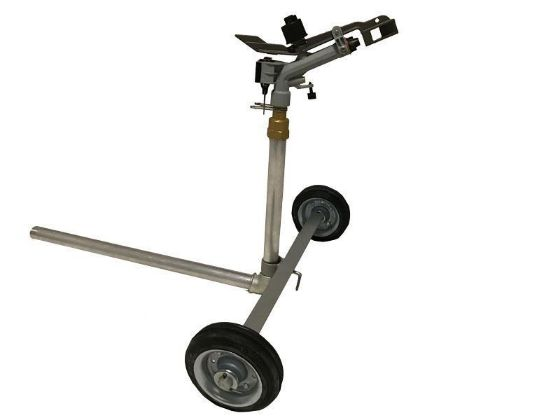 Portable Atom 22 Sprinkler with 1 inch wheeled cart