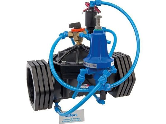 Armas Solenoid controlled pressure reducing valve