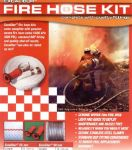 Excalibur Lightweight M Class Fire Hose Kit with nozzle and fittings