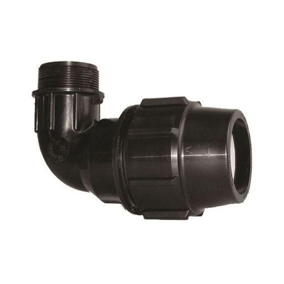 Plasson 7850 90° Metric Male Elbow